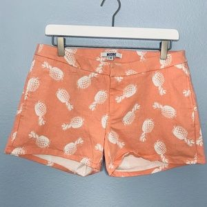 Modbe Peach Pineapple Chino Trouser Shorts 10